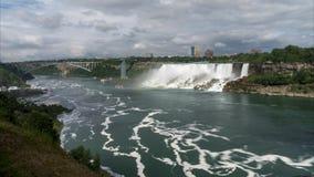 Il ferro di cavallo cade sezione del cascate del Niagara Lasso di tempo video d archivio