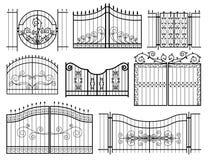 Il ferro Gates le icone Fotografia Stock