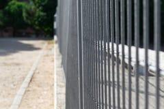 Il ferro recinta un parco Fotografia Stock Libera da Diritti