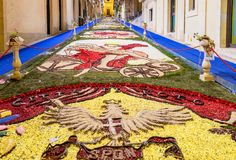 Il festival del fiore di Noto in Sicilia Immagine Stock