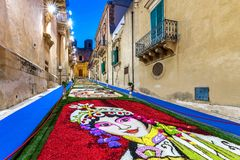 Il festival del fiore di Noto in Sicilia immagini stock libere da diritti