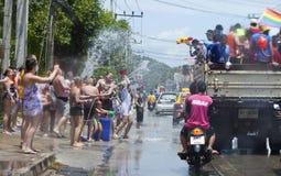 Il festival di Songkran è celebrato in Tailandia Fotografia Stock Libera da Diritti
