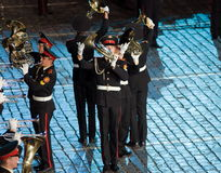 Il festival militare-musicale internazionale Fotografie Stock