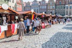 Il festival polacco di buon gusto in Città Vecchia a Poznan, Polonia fotografie stock