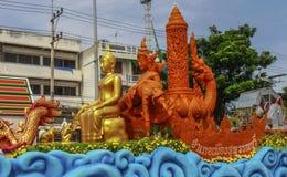 Il festival tradizionale della processione della candela di Buddha Fotografia Stock