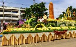 Il festival tradizionale della processione della candela di Buddha Fotografie Stock