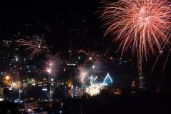 Il festival variopinto 2014 dei fuochi d'artificio Fotografia Stock Libera da Diritti