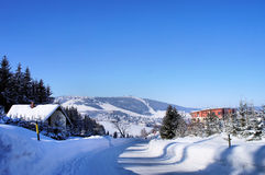 Il Fichtelberg nel Erzgebirge Fotografia Stock