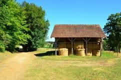 Il fieno si è liberato di nel Dordogne Immagine Stock