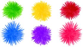 Il fiocchetto astratto dell'acquerello modella il fondo Elementi variopinti rotondi del fiore isolati su bianco illustrazione di stock