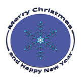 Il fiocco di neve di immagine sul Natale e sul nuovo anno Fotografia Stock