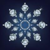 Il fiocco di neve ha reso molto dai diamanti Immagine Stock