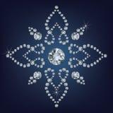 Il fiocco di neve ha reso molto dai diamanti illustrazione vettoriale