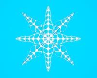 Il fiocco di neve nello stile di carta del mestiere e di arte per natale felice 3d rende Fotografia Stock Libera da Diritti