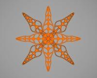 Il fiocco di neve nello stile di carta del mestiere e di arte per natale felice 3d rende Immagini Stock Libere da Diritti