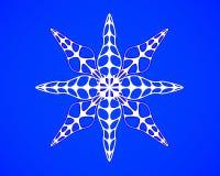 Il fiocco di neve nello stile di carta del mestiere e di arte per natale felice 3d rende Immagine Stock