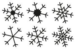 Il fiocco di neve profila la raccolta Fotografia Stock