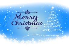 Il fiocco di neve su fondo blu per il Natale condisce, Vector l'illustrazione Fotografia Stock Libera da Diritti