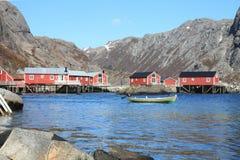 Il fiordo di Nusfjord II Fotografie Stock