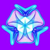 Il fiore al neon fantastico, forma astratta con i lotti di mescolamento allinea Fotografie Stock
