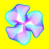 Il fiore al neon fantastico, forma astratta con i lotti di mescolamento allinea Fotografia Stock Libera da Diritti