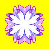 Il fiore al neon fantastico, forma astratta con i lotti di mescolamento allinea Immagini Stock Libere da Diritti