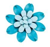 Il fiore decorativo ha fatto il cuoio del ââof Fotografia Stock