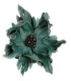 Il fiore decorativo verde ha fatto il cuoio del ââof Fotografia Stock