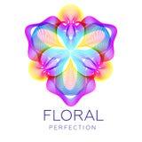 Il fiore fantastico della giungla, forma astratta con i lotti di mescolamento allinea Fotografie Stock Libere da Diritti