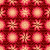 Il fiore gira il modello senza cuciture luminoso rosso del mulino a vento Fotografia Stock Libera da Diritti