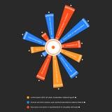 Il fiore gradisce infographic Chiaro e stile semplice illustrazione di stock