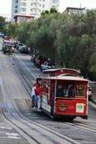 Il Firetruck blocca la cabina telefonica - San Francisco - la California fotografia stock libera da diritti