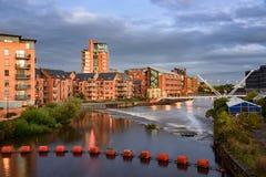 Il fiume Aire Leeds Fotografie Stock Libere da Diritti