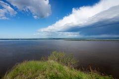 Il fiume Amur Immagine Stock