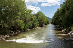 Il fiume Arkansas in Colorado Fotografia Stock