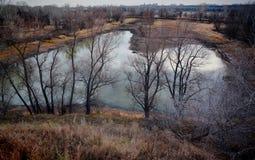 Il fiume in autunno Immagine Stock Libera da Diritti