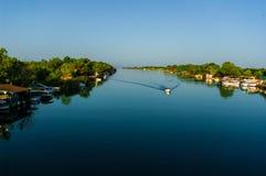 Il fiume Bojana Immagini Stock