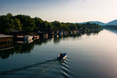 Il fiume Bojana Immagini Stock Libere da Diritti