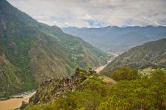 Il fiume Chang Jiang in Cina Fotografie Stock Libere da Diritti