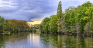 Il fiume Cher Fotografia Stock