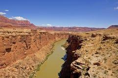 Il fiume Colorado al ponte navajo Fotografia Stock Libera da Diritti