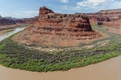Il fiume Colorado in Canyonlands N P Immagini Stock