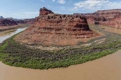 Il fiume Colorado in Canyonlands N P Immagine Stock Libera da Diritti