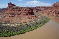 Il fiume Colorado che entra in Canyonlands N P Fotografia Stock Libera da Diritti