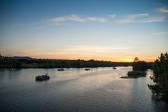 Il fiume Colorado, il Texas fotografia stock