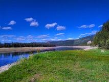 Il fiume Columbia Fotografia Stock