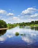 Il fiume con le spiagge sabbiose Fotografia Stock Libera da Diritti