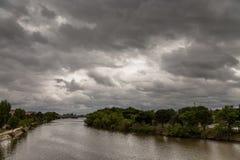 Il fiume del Duero sul suo modo attraverso Zamora Fotografia Stock Libera da Diritti