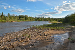 Il fiume del Nord selvaggio Fotografia Stock Libera da Diritti