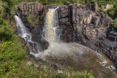 Il fiume del piccione attraversa il grande parco di stato di Portage e la prenotazione indiana È la frontiera fra Ontario ed il M fotografie stock libere da diritti